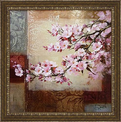 期間限定で特別価格 絵の表面を特殊ゲル加工 額縁付き 絵画 アートフレーム ダニエル DN-15013-新品 チェリー ネンガーマン ブロッサム1 希少