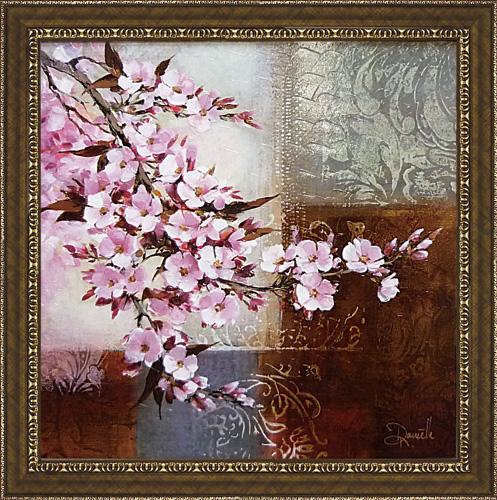 定番から日本未入荷 絵の表面を特殊ゲル加工 額縁付き 絵画 アートフレーム 供え ダニエル チェリー DN-15014-新品 ブロッサム2 ネンガーマン