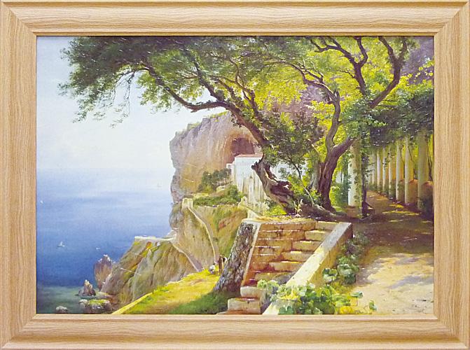 超大特価 額縁付き 絵画 アートフレーム カール フレデリック アーガード「ペルゴラ イン アマルフィー」 CA-18021-新品, とやまの薬&和漢薬 0d811dff