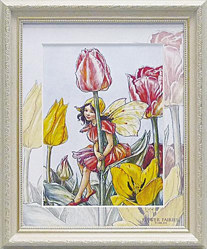 <title>美しい花々や妖精達の笑顔が印象的 フラワーフェアリーズ アートフレーム チューリップフェアリー FF-05006 大好評です -新品</title>