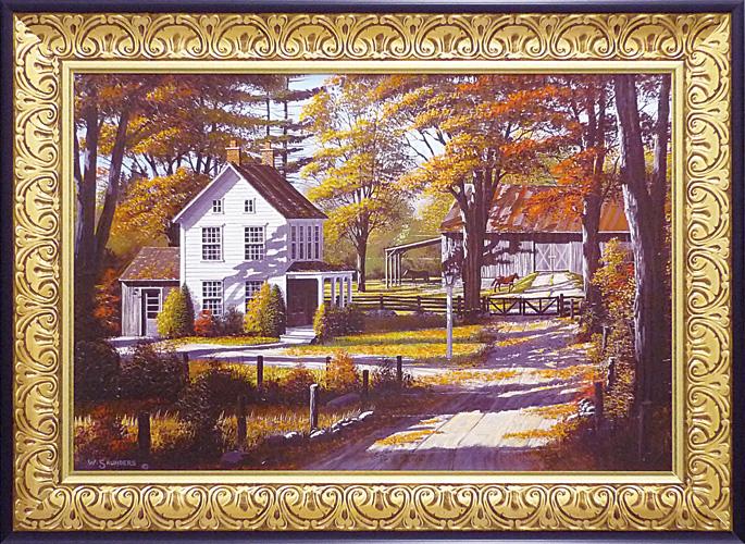 額縁付 絵画 アートフレーム ビル サンダース 「ラスリング リーブス」 BI-32002-新品
