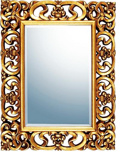 インテリア 鏡 壁掛け グレース アート ミラー「プレミア(アンティークゴールド)」 GM-22012 -新品
