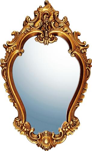 インテリア 鏡 壁掛け グレース アート ミラー「アリストクラシー(アンティークゴールド)」 GM-20012 -新品