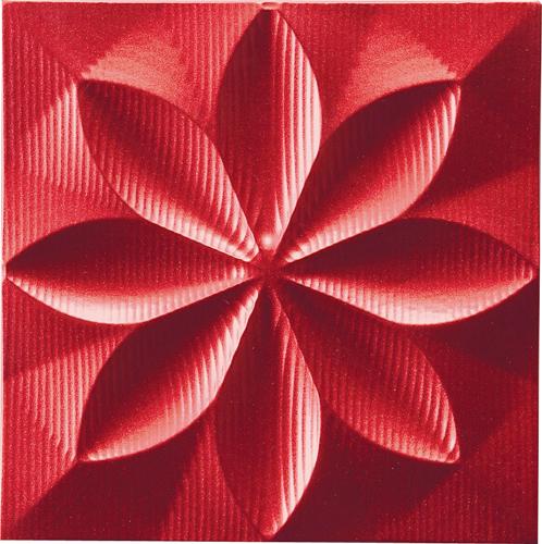 インテリア プラデック ウォール アート 「フローラル(メタルレッド)」 PL-05808-新品