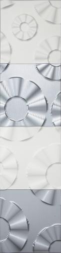 インテリア プラデック ウォール アート 「コスモ(ホワイト&シルバー)」 PL-20003-新品