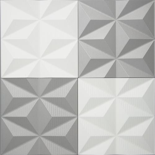 インテリア プラデック ウォール アート 「トライアングル(ホワイト&シャンパン)」 PL-20007-新品