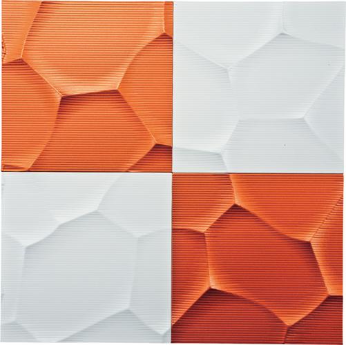 インテリア プラデック ウォール アート 「クラック(ホワイト&メタルオレンジ)」 PL-20010-新品