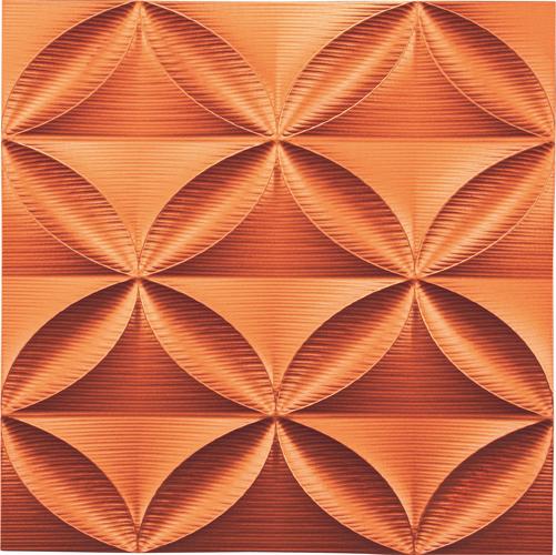 インテリア プラデック ウォール アート 「エコー(メタルオレンジ)」 PL-18013-新品