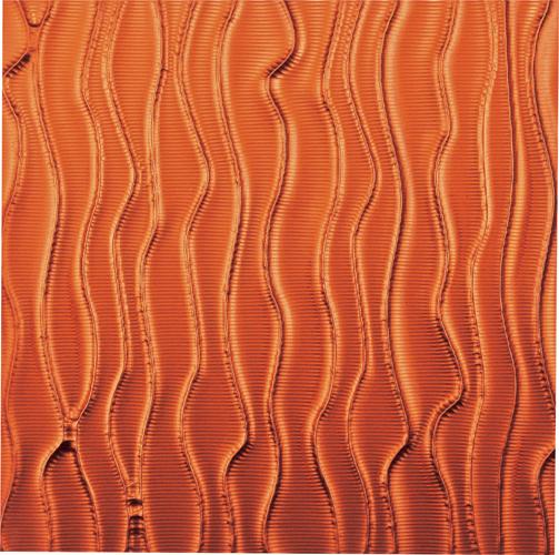 インテリア プラデック ウォール アート 「ウェーブ(メタルオレンジ)」 PL-18015-新品