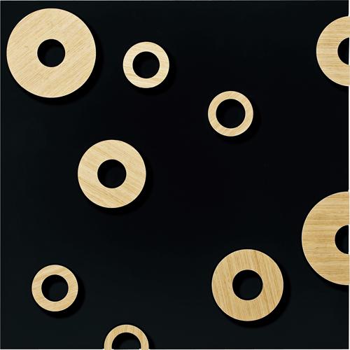 インテリア プラデック ラウンド オーメント 「スクエアL(ブラック)」 PL-25002-新品