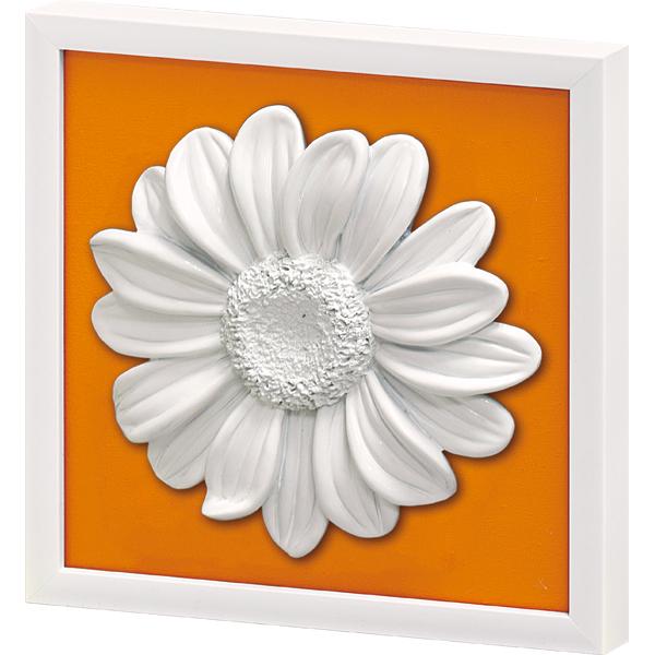インテリア オーナメント ウォールアート「デイジー(オレンジイエロー)」 OW-08014-新品