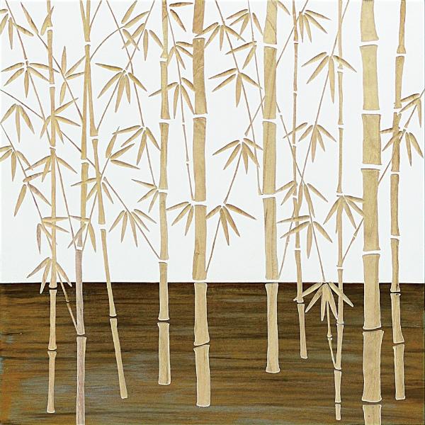 インテリア アート 壁掛け ウッドスカルプチャーアート「フォレスト バンブー(WH+NP)」 SA-15055-新品