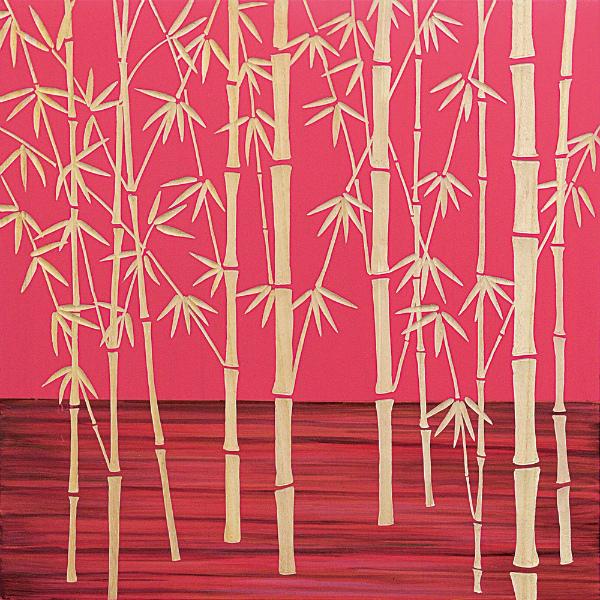 インテリア アート 壁掛け ウッドスカルプチャーアート「フォレスト バンブー(RD+NP)」 SA-15057-新品