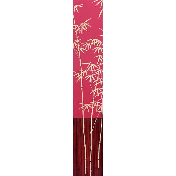インテリア アート 壁掛け ウッドスカルプチャーアート「バンブー2(RD+NP)」 SA-12053-新品