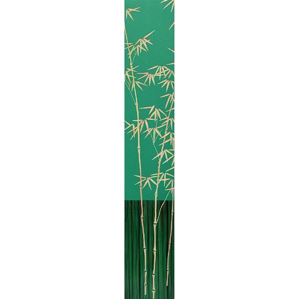 インテリア アート 壁掛け ウッドスカルプチャーアート「バンブー2(GR+NP)」 SA-12054-新品