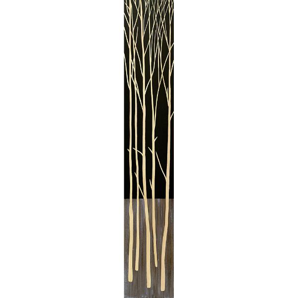 インテリア アート 壁掛け ウッドスカルプチャーアート「ツリー2(BK+NP)」 SA-12061-新品
