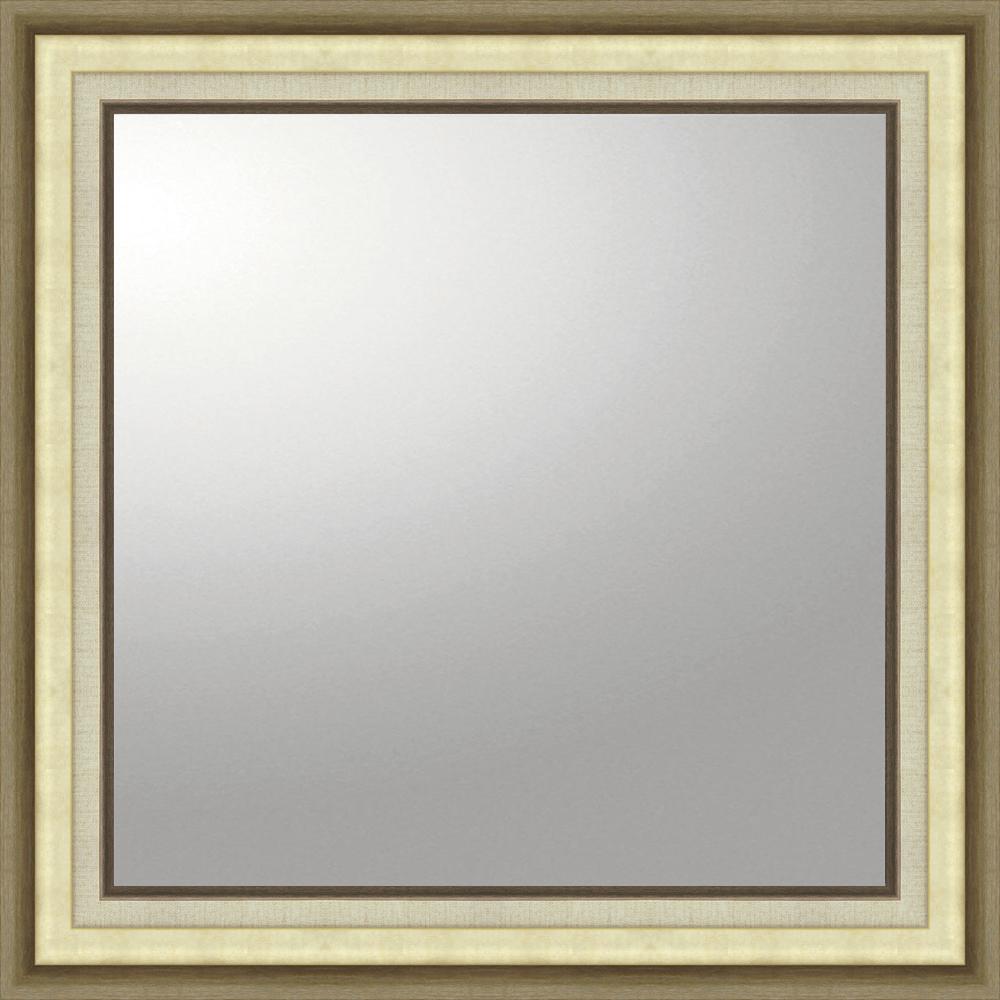 インテリア 鏡 壁掛け デコラティブ 大型ミラー モダン「正方形(ゴールド)」 BM-16025 -新品