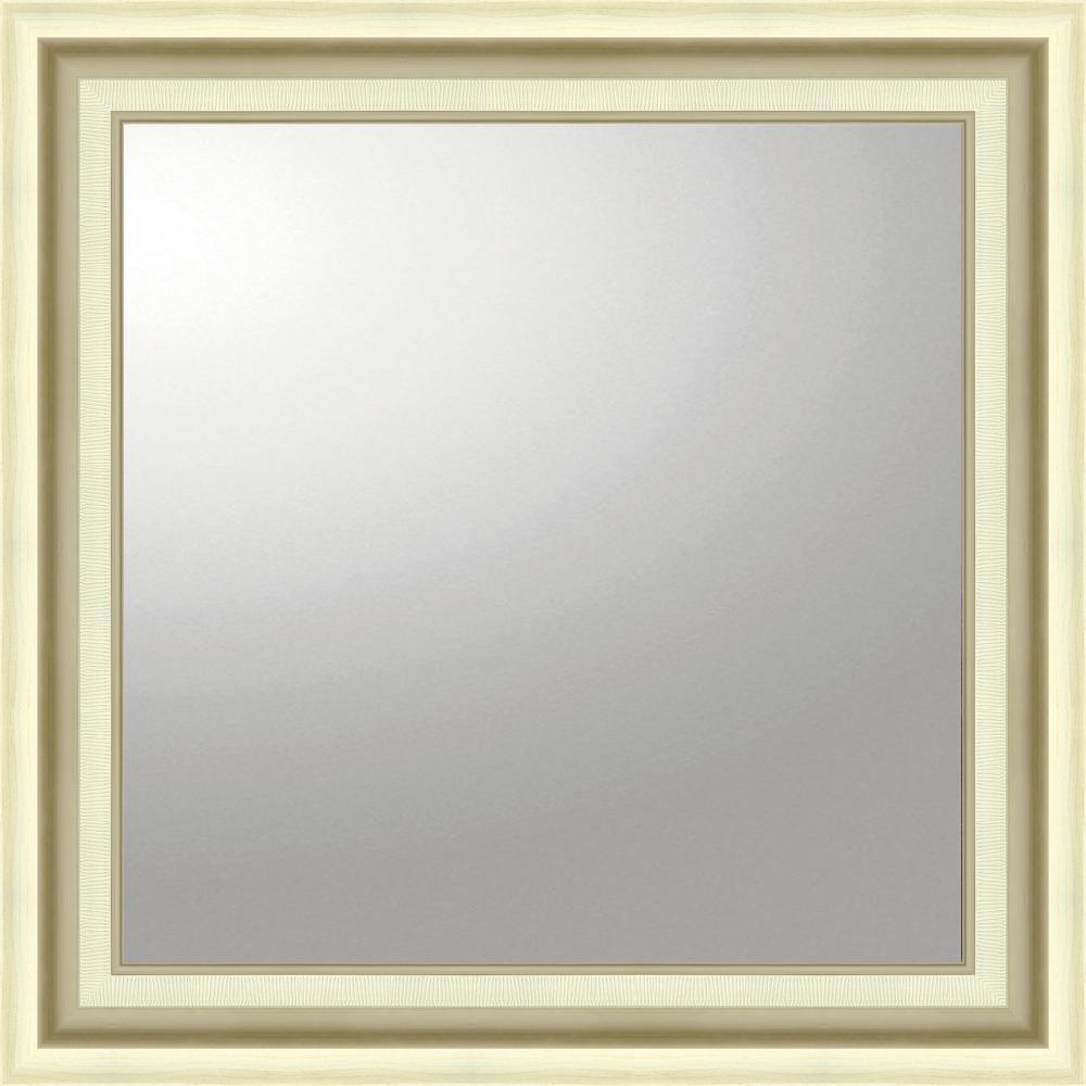 インテリア 鏡 壁掛け デコラティブ 大型ミラー モダン「正方形(シルバー)」 BM-16026 -新品