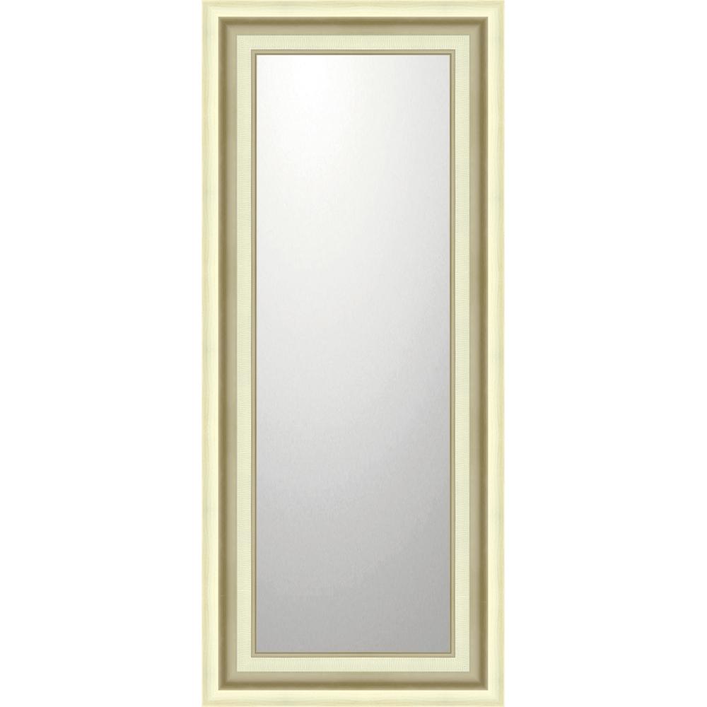 インテリア 鏡 壁掛け デコラティブ 大型ミラー モダン「ロング(シルバー)」 BM-16036 -新品
