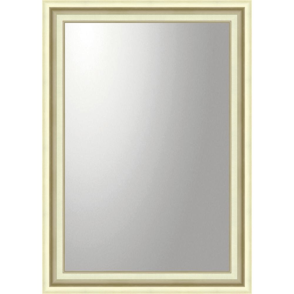 インテリア 鏡 壁掛け デコラティブ 大型ミラー モダン「長方形(シルバー)」 BM-23026 -新品