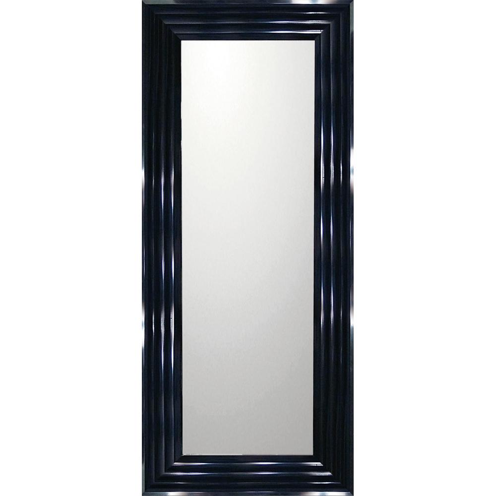 インテリア 鏡 壁掛け デコラティブ 大型ミラー シャープ「ロング(ブラック)」 BM-16031 -新品:絵画 掛軸 額縁屋 TOUO