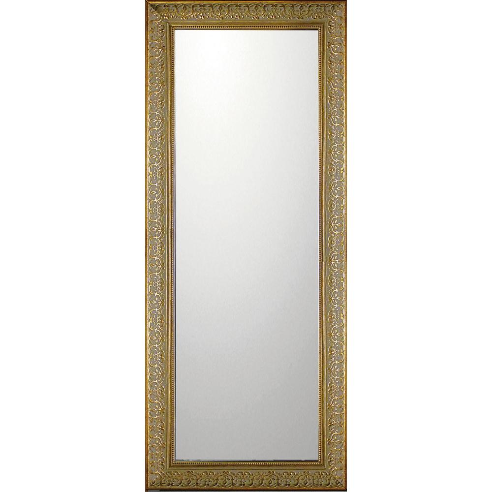 インテリア 鏡 壁掛け デコラティブ 大型ミラー デコラティブ「ロング(ゴールド)」 BM-14034 -新品