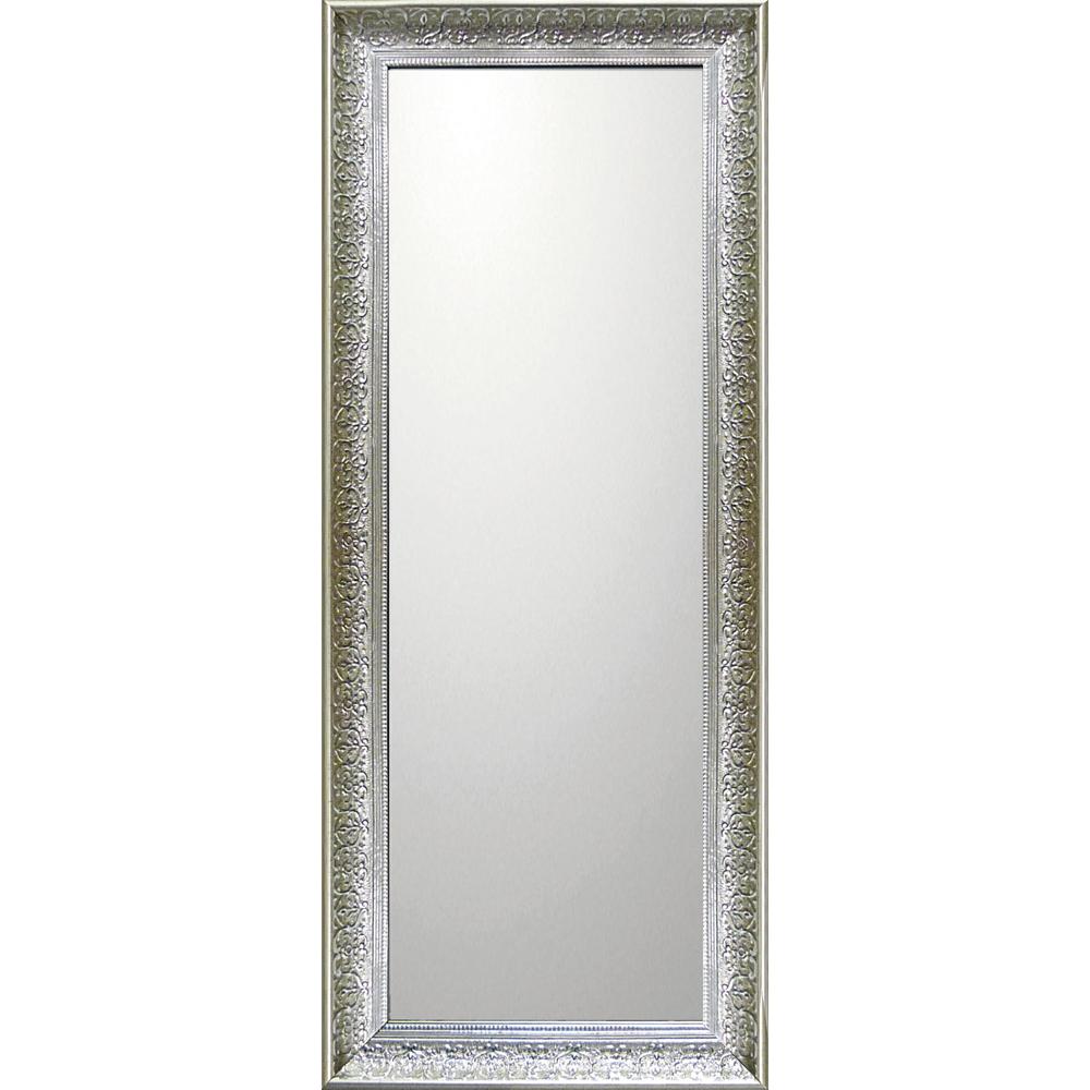 インテリア 鏡 壁掛け デコラティブ 大型ミラー デコラティブ「ロング(シルバー)」 BM-14035 -新品