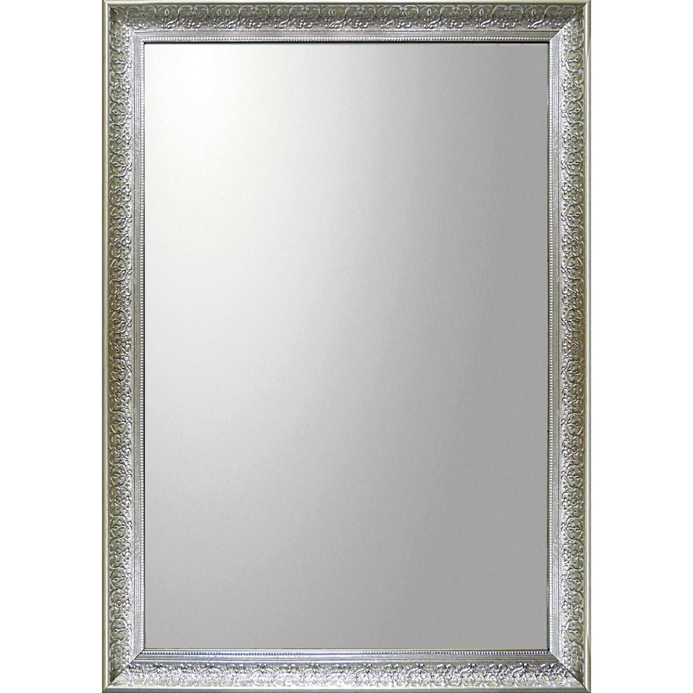 インテリア 鏡 壁掛け デコラティブ 大型ミラー デコラティブ「長方形(シルバー)」 BM-20025 -新品