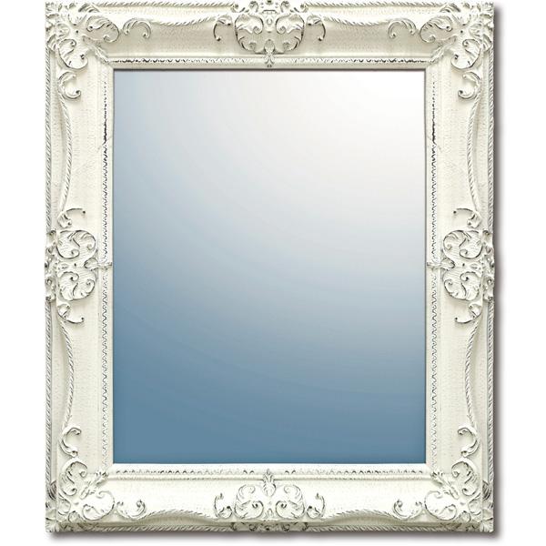 インテリア 鏡 壁掛け グレース アート ミラー「アーサーL(アンティークホワイト)」 GM-08017 -新品