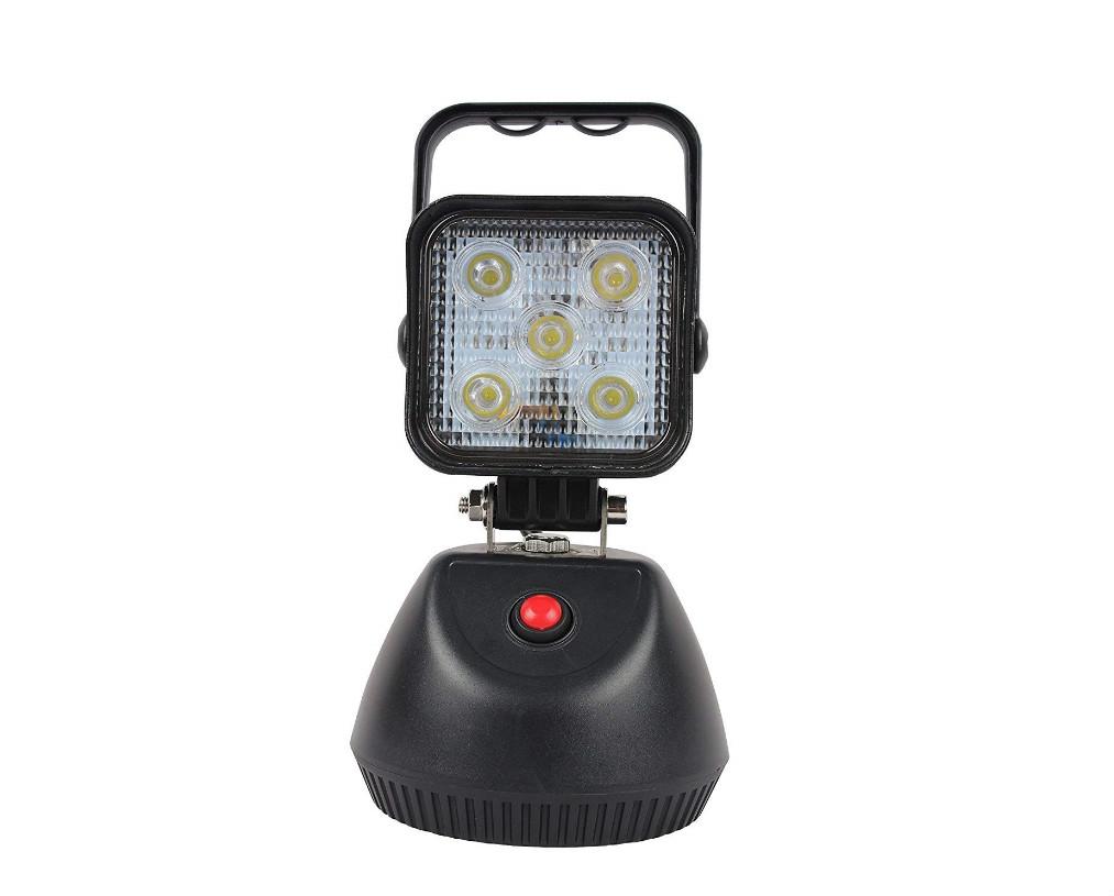 【 2個セット】3段調光15W LED投光器 充電式サンダービーム フラッシュ付 充電式 LED作業灯 投光器 ワークライト 作業灯 LED ポータブル 100V-240V 12V/24V 広角60度 1年保証 底部マグネット付き
