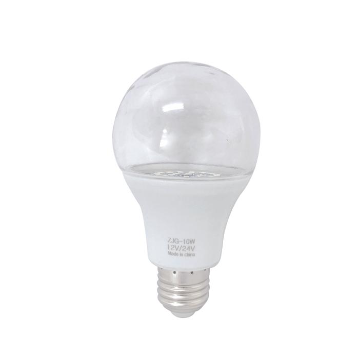 【4個セット】ノイズレス LED電球10W 透明カバー 船舶用 集魚灯 800ルーメン LEDワークライト LED作業灯 LED 船 作業灯 デッキライト E26ソケット 24v 12v 兼用