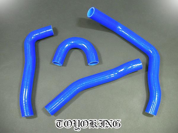 三菱 EVO 10 シリコン樹脂製 強化ラジエターホース 青