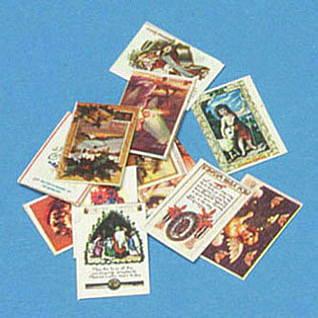 ミニチュア ドールハウス ミニチュア雑貨 クリスマスカード 12枚セット ネコポス配送対応 m-s 新着セール C CAR1117 《週末限定タイムセール》