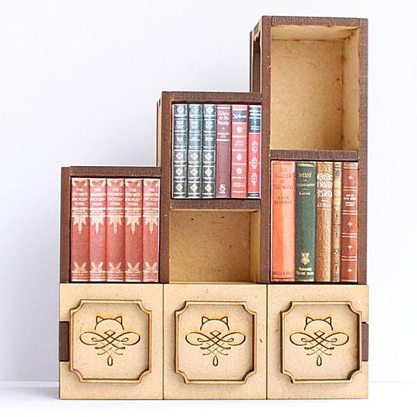 まめまめ工房 秘密基地 ミニチュア 蔵 ドールハウス 猫のミニチュア 本棚 ほんだにゃ ネコポス不可 12スケール 完成品 1 m-s 高額売筋 C