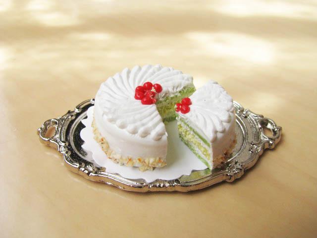 ミニチュア ドールハウス 品切中 ミニチュアフード 切れてるケーキ 代引き不可 チェリー ネコポス配送対応 クリーム 激安通販ショッピング 25mm m-s C SMCK-20