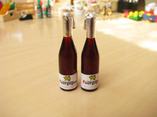 ミニチュアドールハウスに ミニチュア雑貨 ブルゴーニュ風ワイン2本セット 選択 ID51016 C m-s ※アウトレット品 ネコポス配送対応