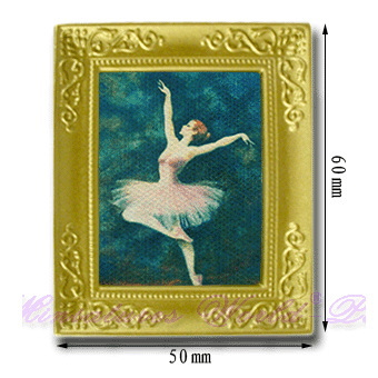Waiting to restock ☆ ☆ miniature gadgets (paintings) framed painting Ballet [EF5], m [-s]
