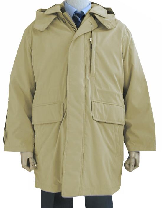 抜群の保温力 ダウンコート お買い得 DadyCosta ダウンショートコート メンズ S のライナー付き 新品未使用正規品 秋冬物 9411 ベージュ系