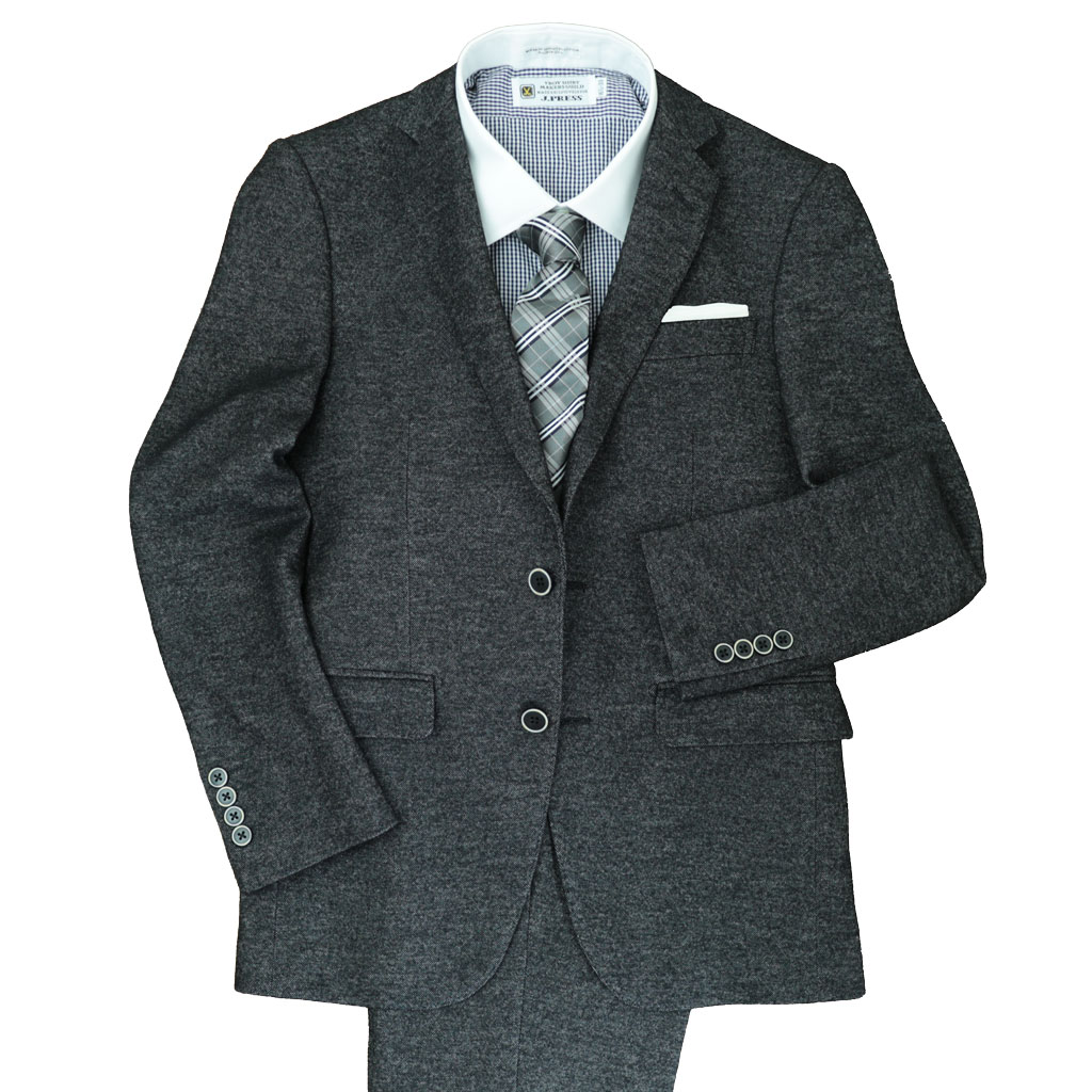 Dady Costaの秋冬春 2つボタン スーツ ブラック ジャージー生地 1023 Y4 Y5 Y6 A4