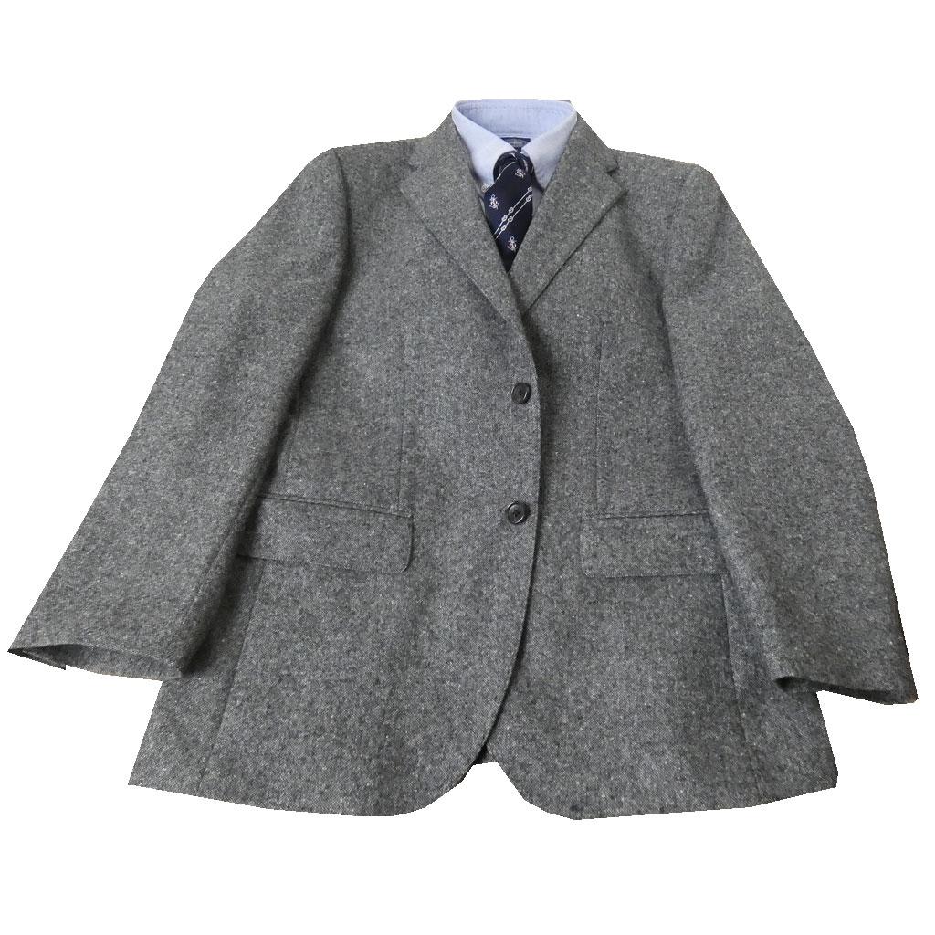 HAI-VASERONの秋冬春 カシミヤブレンドジャケット チャコールグレー 0723 AB3 BB3
