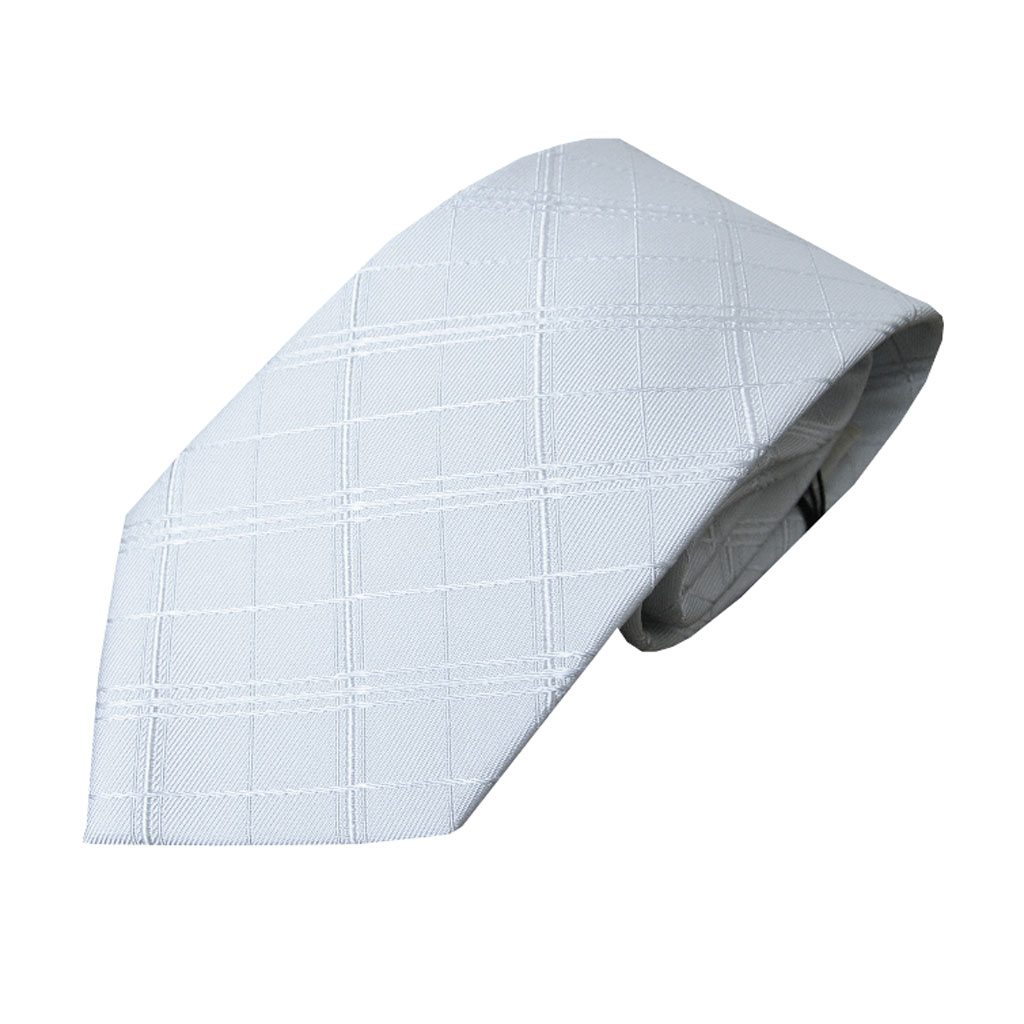 NEW FORMAL礼装用ネクタイ シルバーグレー シルク100% NF02