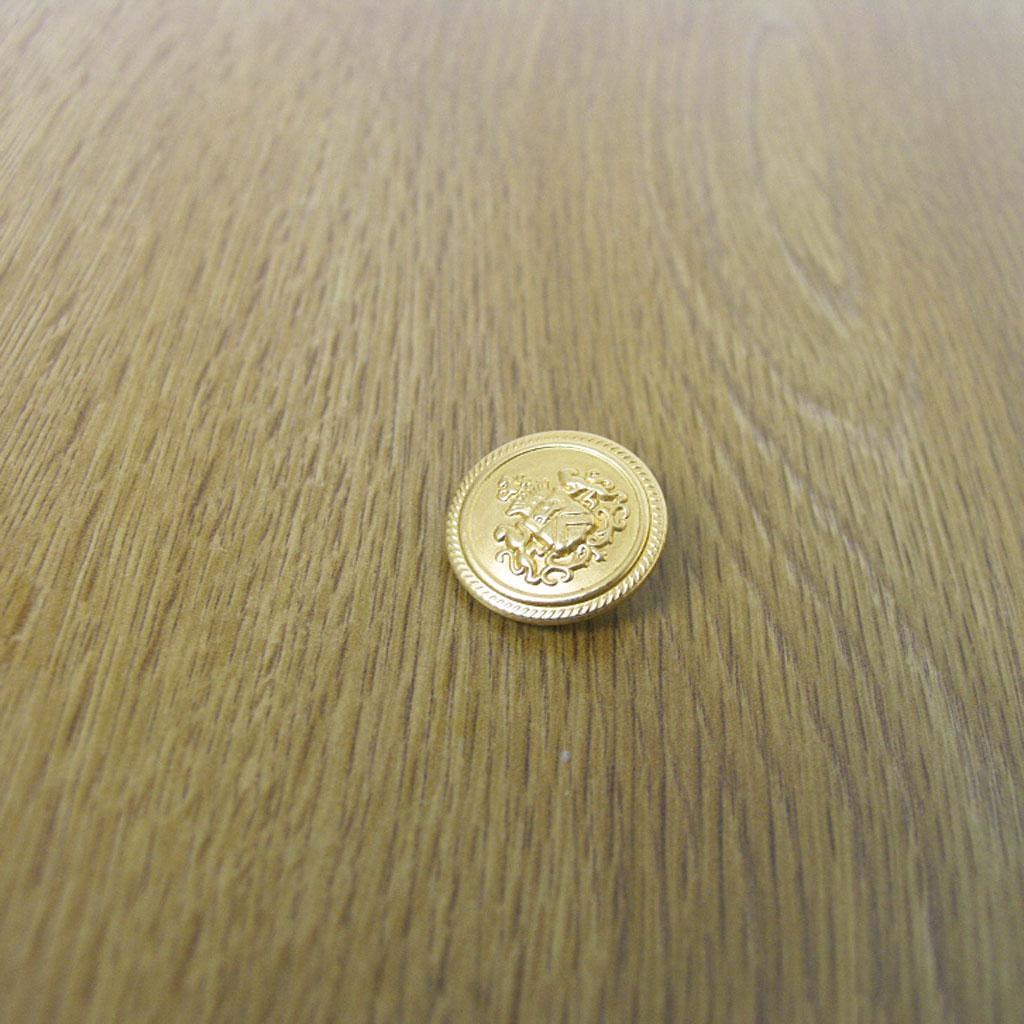 ついに入荷 メール便のみ送料無料 ブレザー ジャケット用替え金ボタン 男女兼用 大=直径2cm メンズ