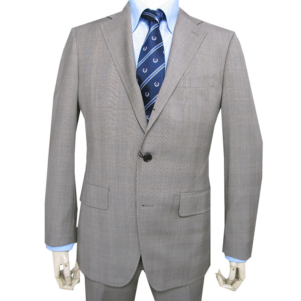 grado collection 春夏秋段返り3つボタン スーツ ブラウン系 グレンチェック S30 A3 A6 A7 AB4 AB6 AB7 BB6 BB8