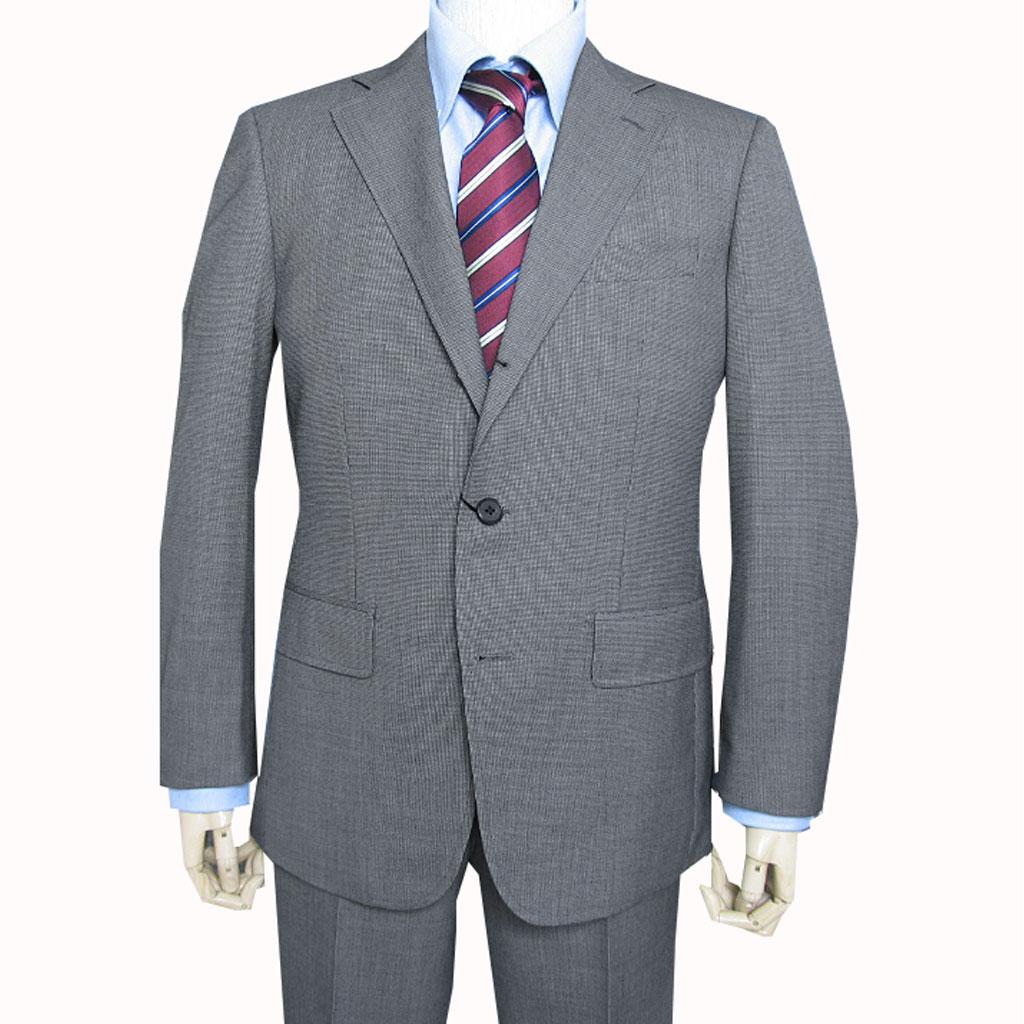 grado collection 春夏秋段返り3つボタン スーツ チャコールグレー マイクロ千鳥格子102K A4 A5 A6 A7 AB4 AB5 BB5 BB8