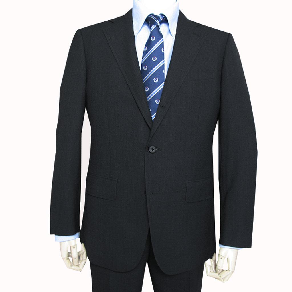 grado collection 春夏秋段返り3つボタン スーツ ブラック ピンドット 9N A4 A7 AB4 AB5 AB7 AB8 BB7