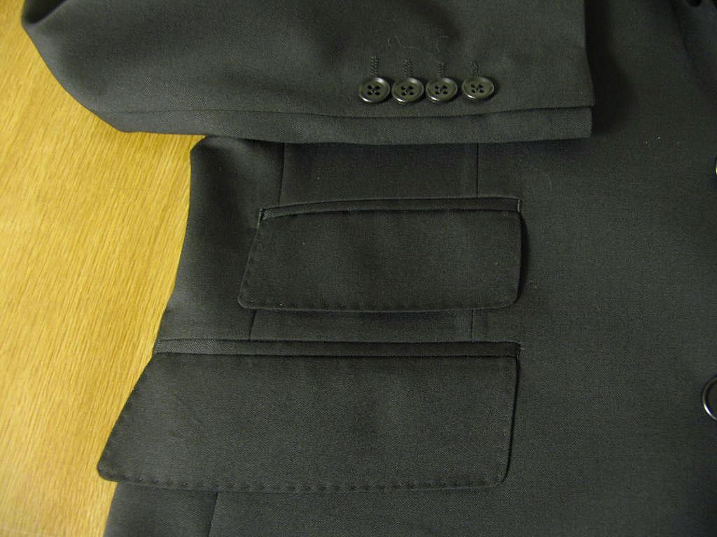 Theo Dore秋天冬天春天有段落返回3个按钮三件套黑素色兑换口袋的2909 A4 A6 A7 A8 AB5 AB6 AB7 BB4 BB5 BB7