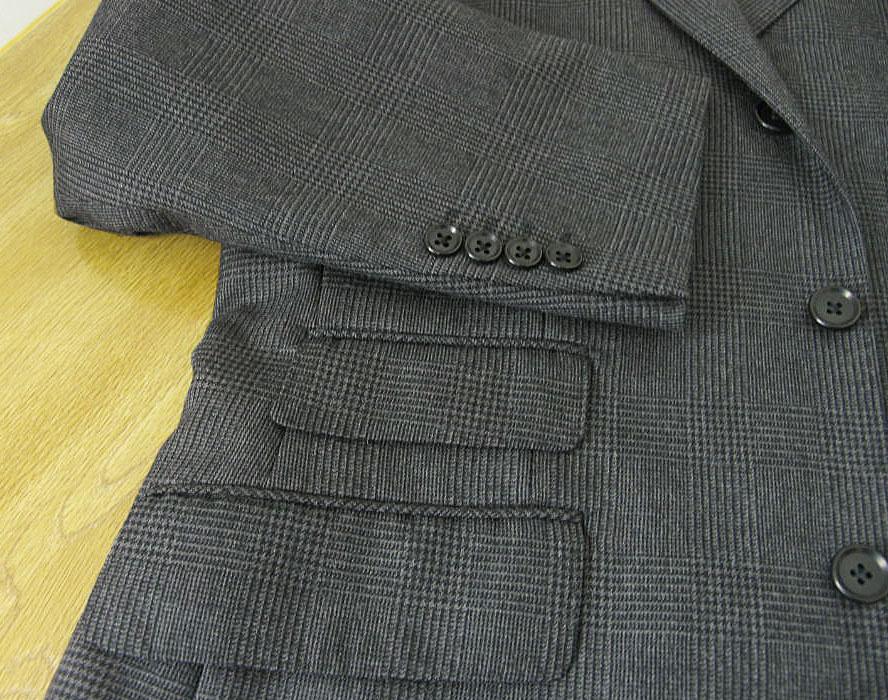 glencheck three piece charcoal gray glen check uk like step return marks button men business theodore 0118 e4 e7 e8 in the fall and winter berlin
