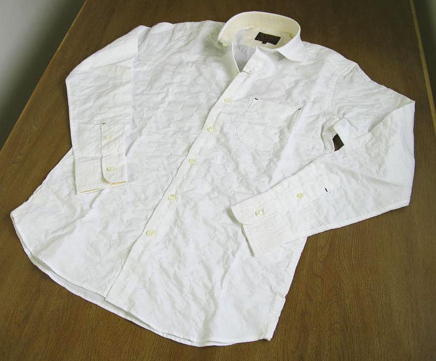 CHUBEIの長袖シャツ ホワイト ホリゾンタル HW3  L
