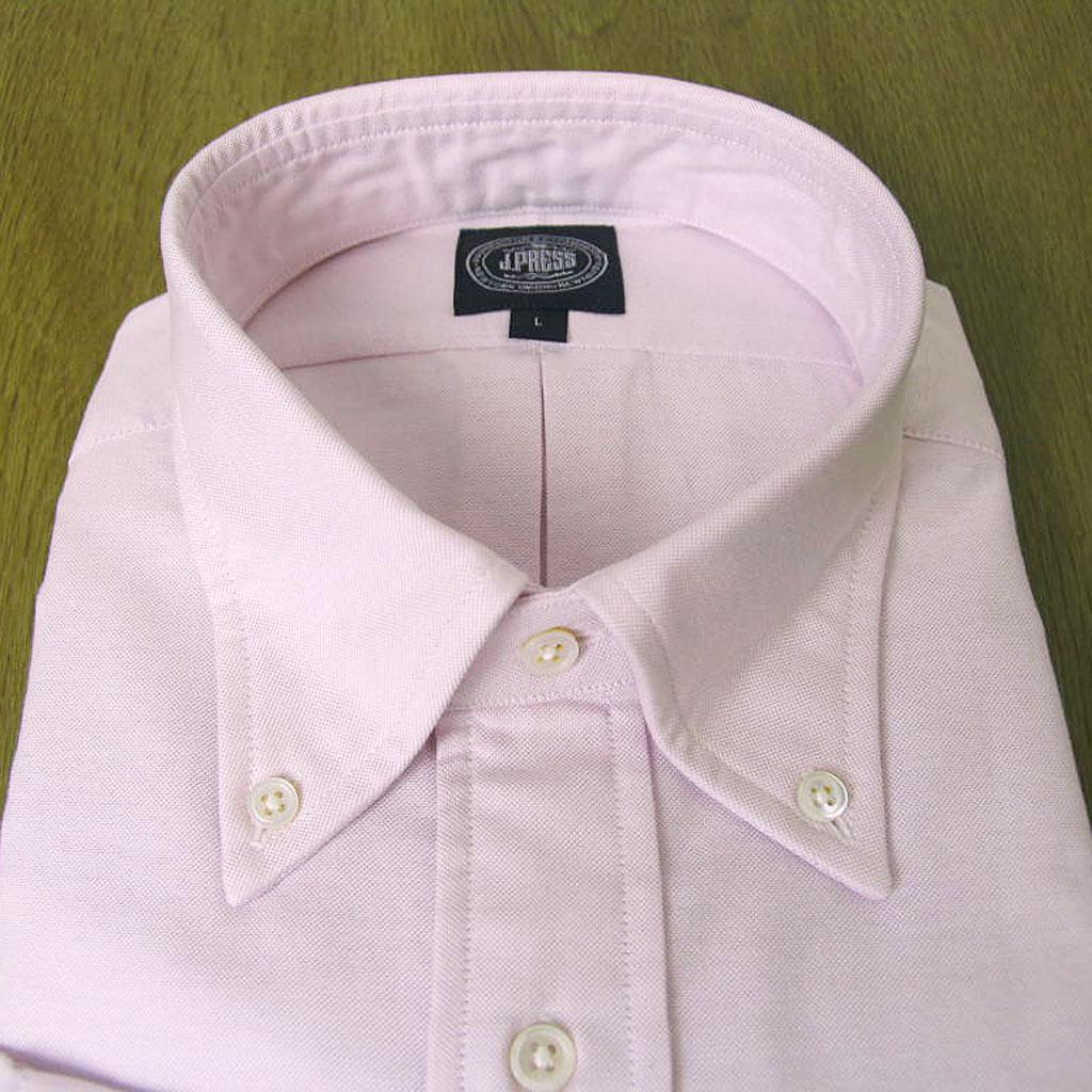J.PRESSのボタンダウンシャツ ピンク ピンオックス  M(衿39-裄丈83cm)L(衿41-裄丈84)