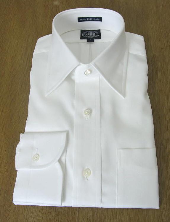 J.PRESSのレギュラーカラーシャツ ホワイト ピンオックス  S(衿37-裄丈81) (衿41-裄丈85)(衿42-裄丈86)